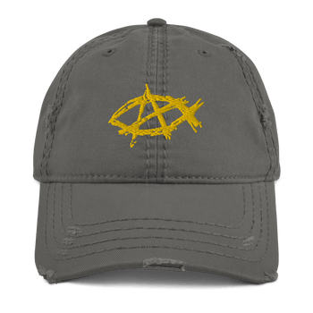 AnarchoChristian Distressed Dad Hat - Proud Libertarian