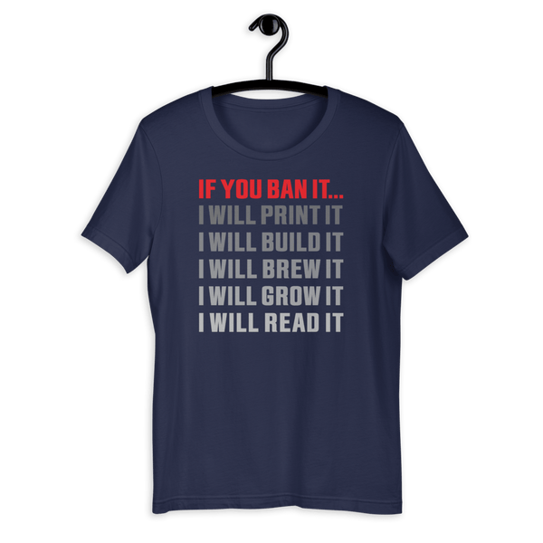 If You Ban It.... Short-Sleeve Slim-Fit T-Shirt - Proud Libertarian