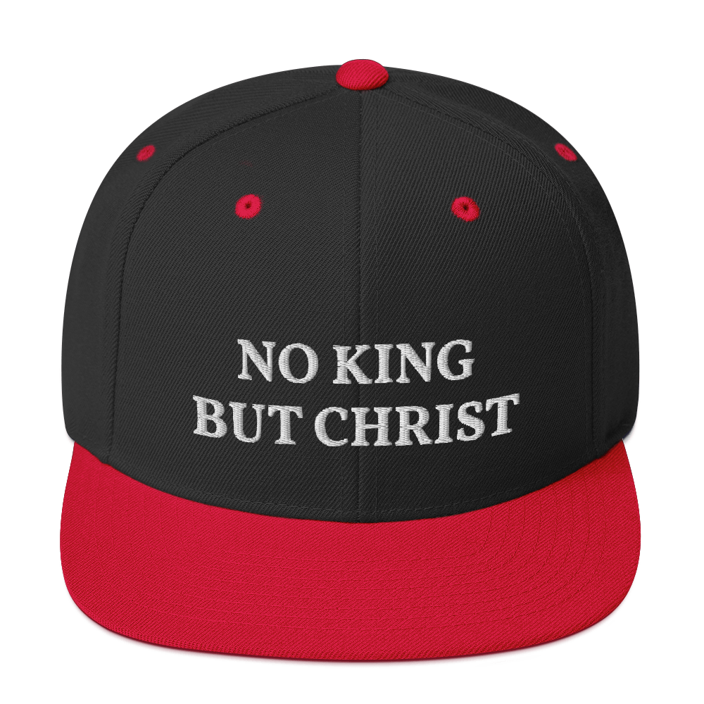 AnarchoChristian - No King But Christ Snapback Hat