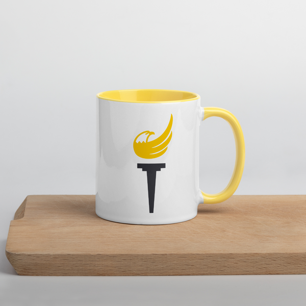 Libertarian Party Torch Mug with Color Inside - Proud Libertarian