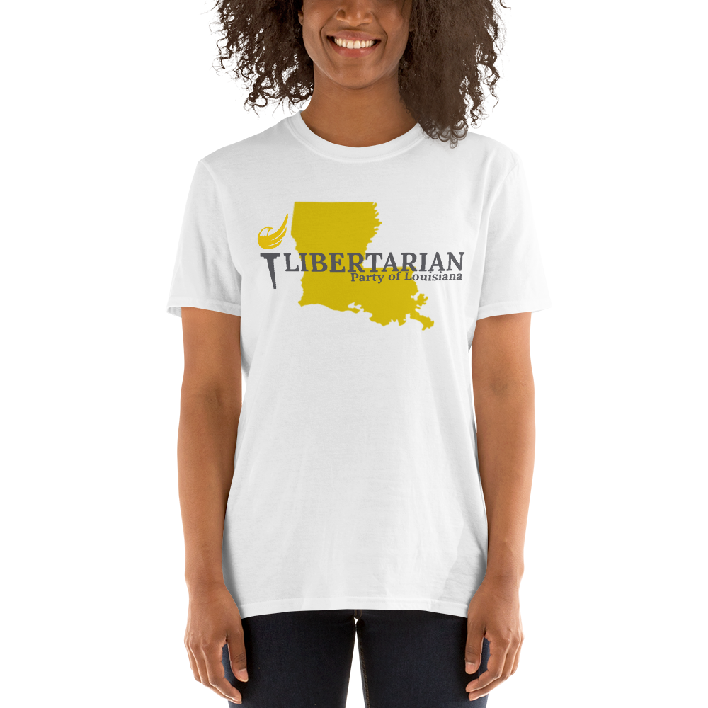 Libertarian Party of Louisiana Short-Sleeve Unisex T-Shirt - Proud Libertarian