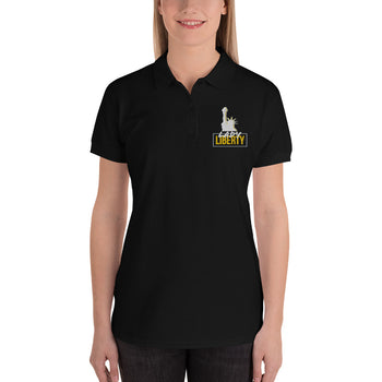 Lady Liberty Embroidered Women's Polo Shirt - Proud Libertarian