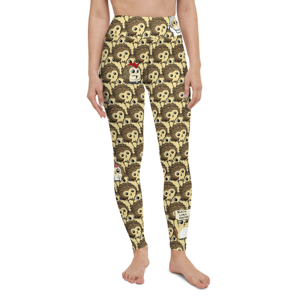 Libertarian Party Cartoon Porcupine Yoga Leggings - Proud Libertarian