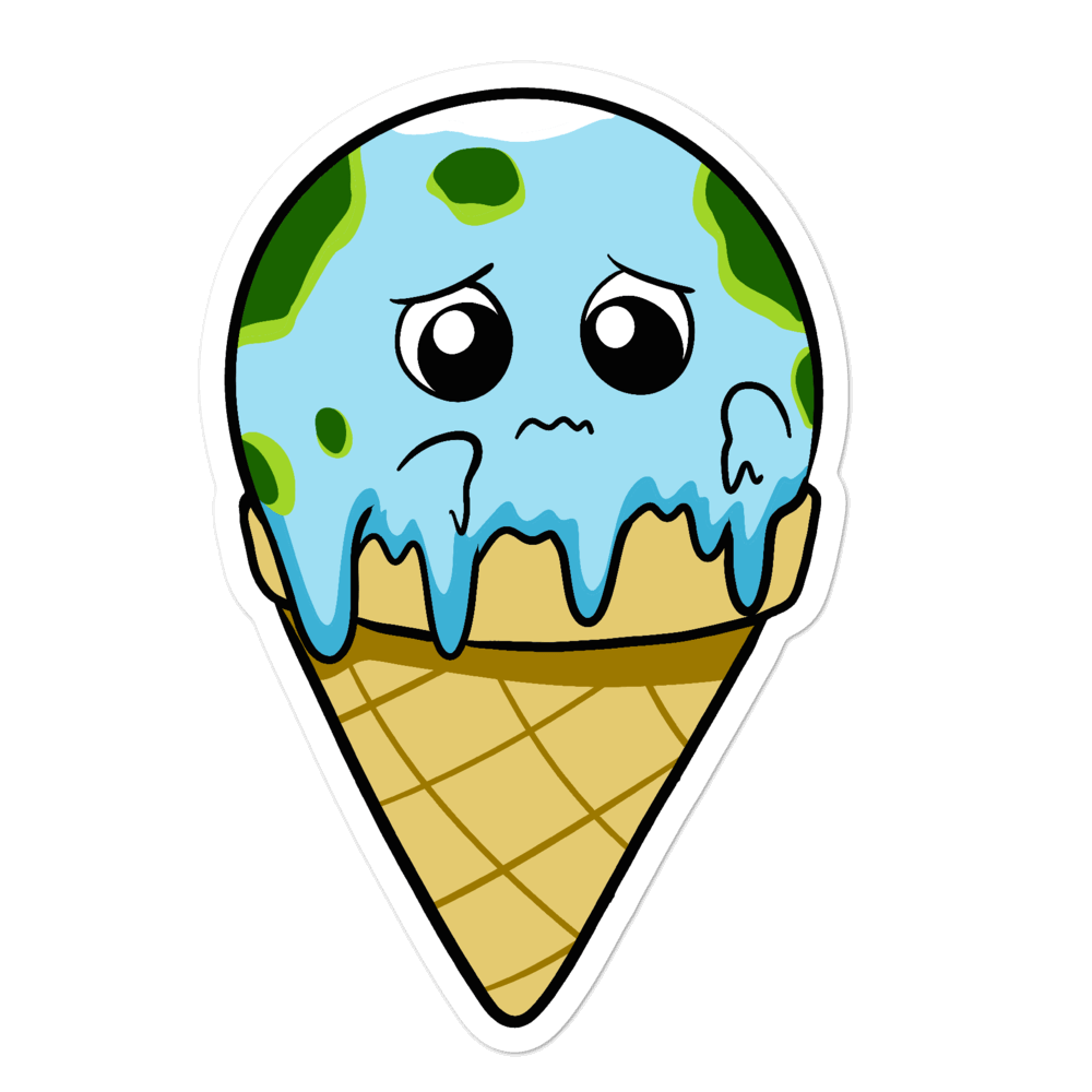 Global Meltdown Cartoon - Bubble-free stickers