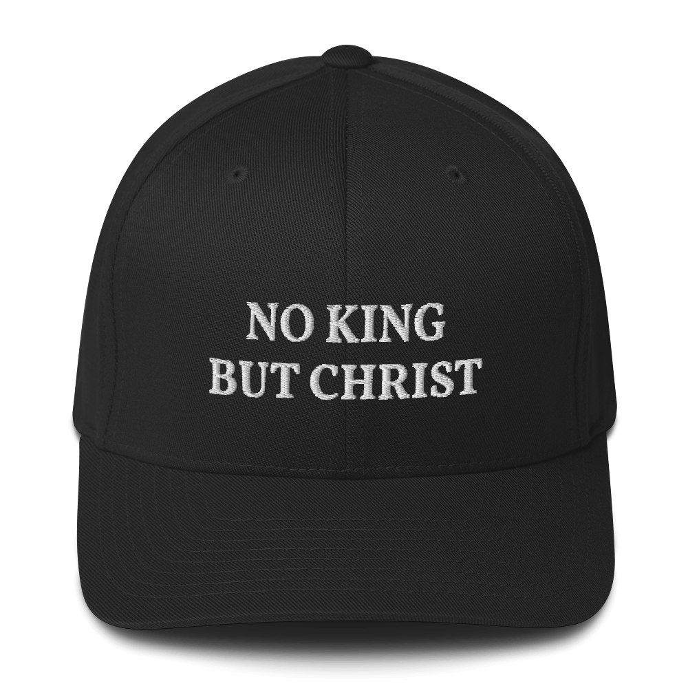 AnarchoChristian - No KIng but Christ FlexFit Hat - Proud Libertarian