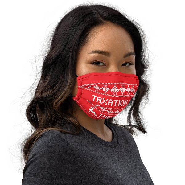 Ugly Christmas Face mask - Proud Libertarian