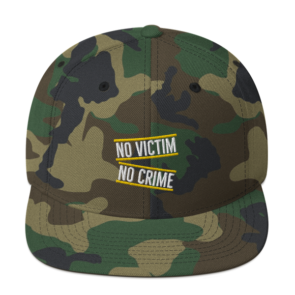 No Victim No Crime Snapback Hat - Proud Libertarian