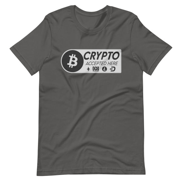 Crypto Accepted Here Short-Sleeve Unisex T-Shirt - Proud Libertarian