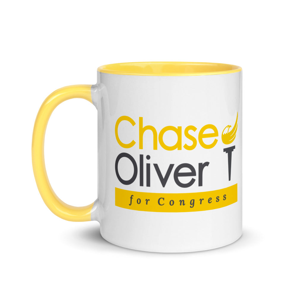 Chase Oliver For Congress Mug with Color Inside - Proud Libertarian