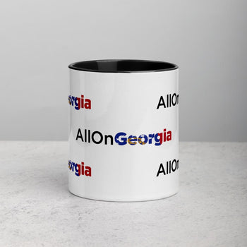 AllOnGerogia Mug with Color Inside - Proud Libertarian