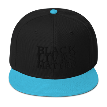 Black Lives Matter Low Contrast Snapback Hat - Proud Libertarian