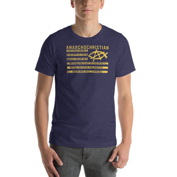 AnarchoChristian - No King But Christ Christian Flag Premium T-Shirt - Proud Libertarian