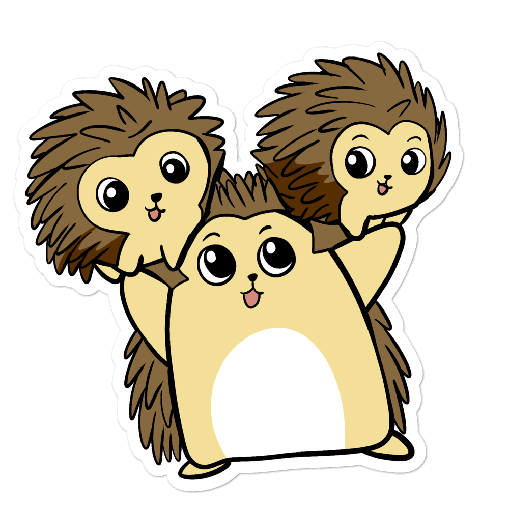 Raising Young Libertarians Porcupine Cartoon - Bubble-free stickers