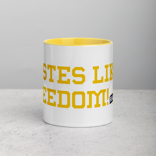 "Rainwater for Indiana - ""Tastes Like Freedom"" Mug with Color Inside - Proud Libertarian"