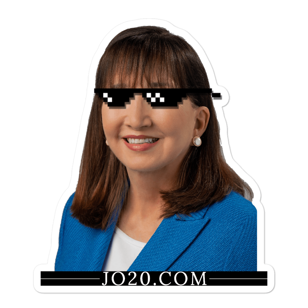 "Jo Jorgensen 2020 ""deal with it"" Bubble-free stickers - Proud Libertarian"
