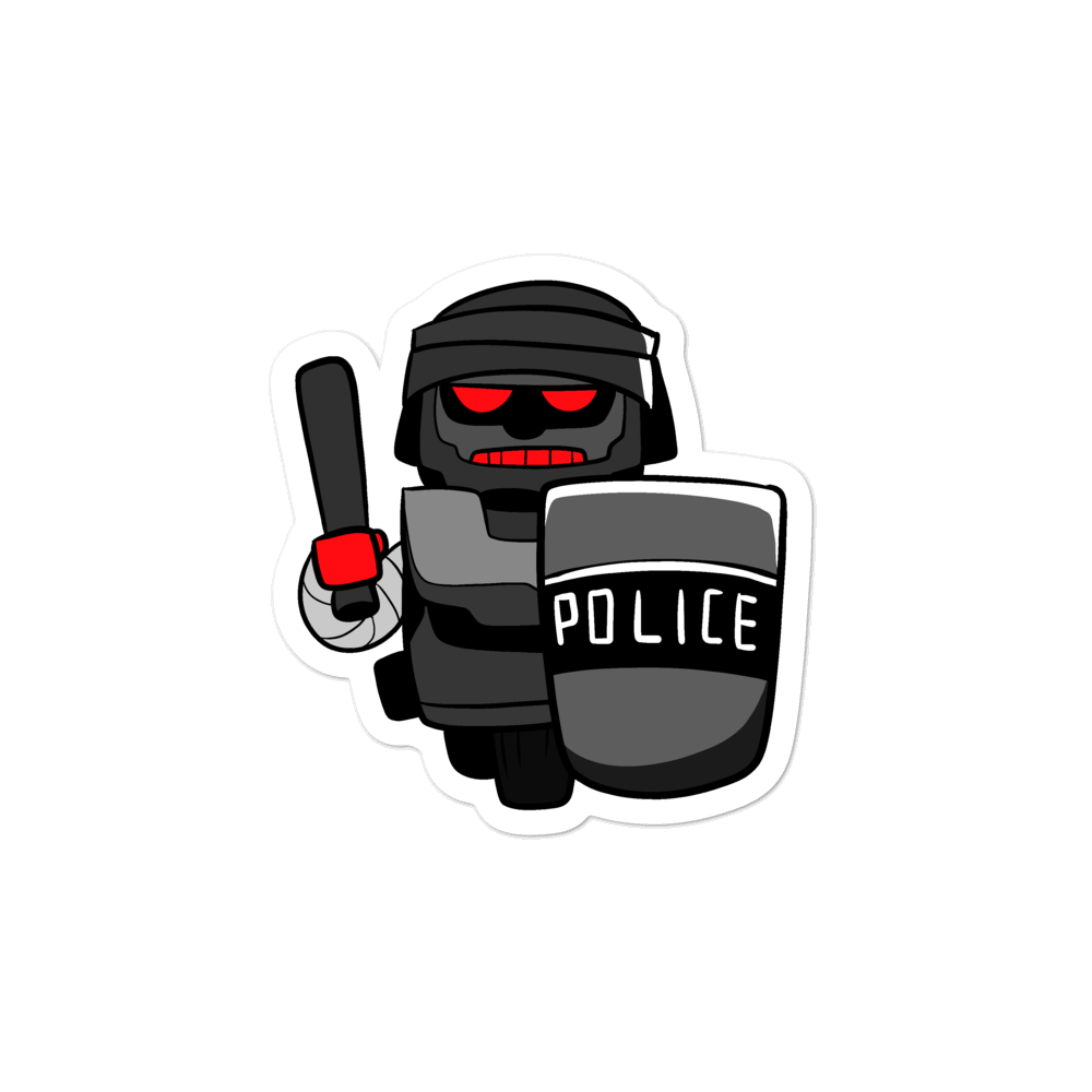 InHuman Police Robot Cartoon - Bubble-free stickers