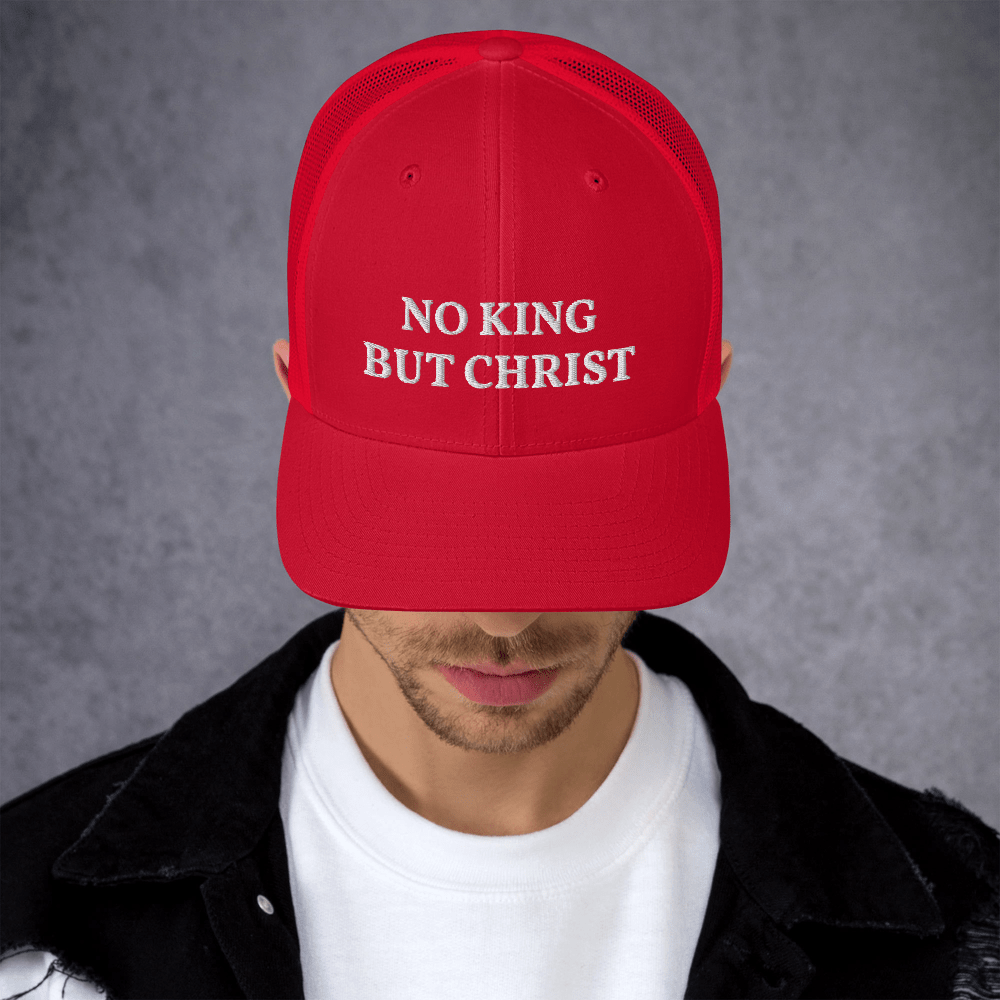 AnarchoChristian - No King But Christ Trucker Cap
