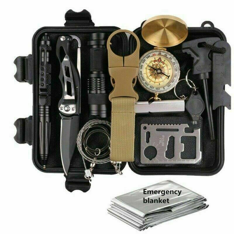 14 in 1 Outdoor Emergency Survival Gear Kit Camping Tactical Tools SOS EDC Case - Proud Libertarian