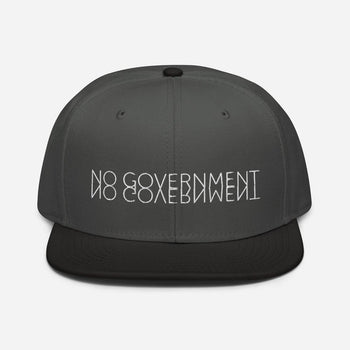 NO GOVERNMENT Snapback Hat - Proud Libertarian