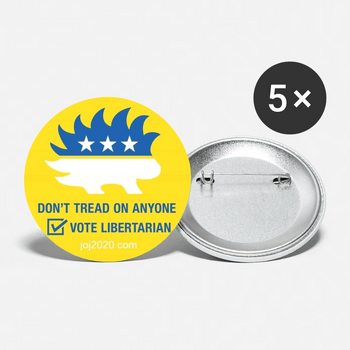 Don't Tread on Anyone Buttons large 2.2'' (5-pack) - Proud Libertarian