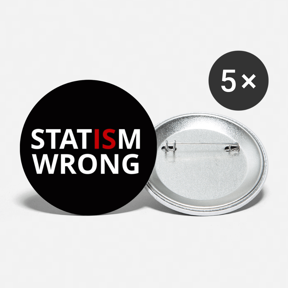 Statism is Wrong Buttons large 2.2'' (5-pack)