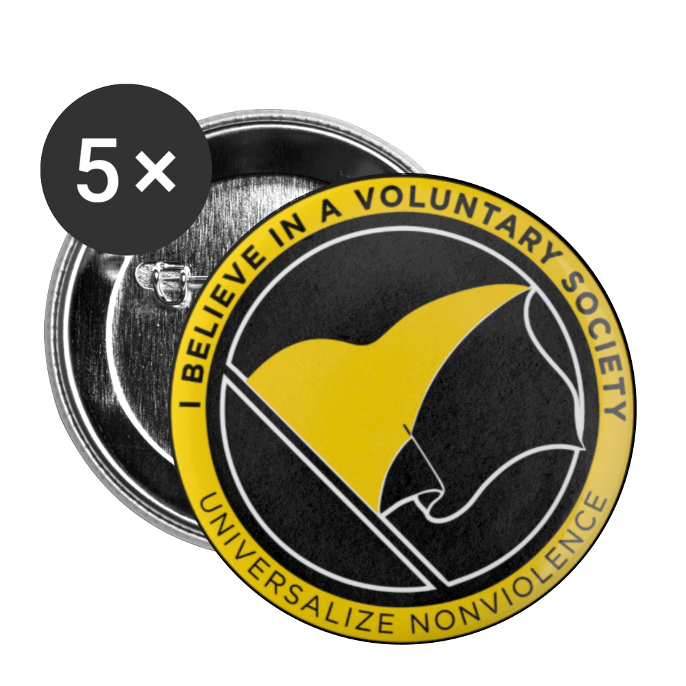 Ancap Buttons large 2.2'' (5-pack) - Proud Libertarian
