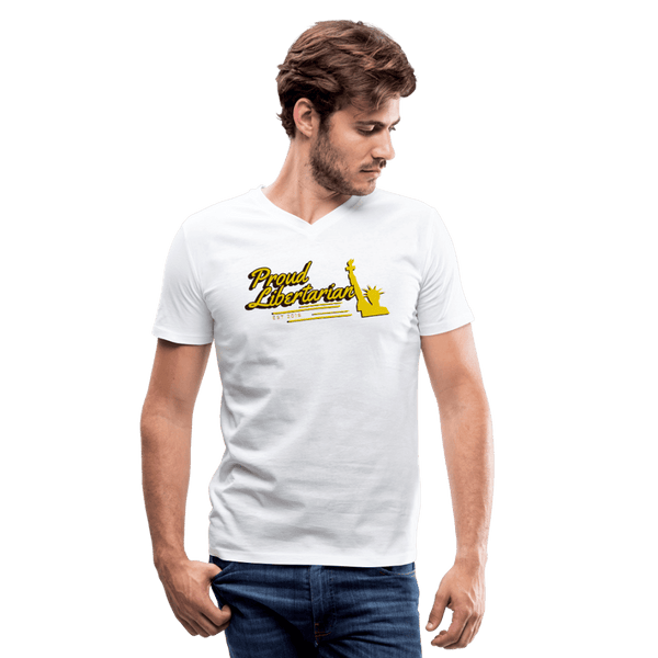 Proud Libertarian Men's V-Neck T-Shirt - Proud Libertarian