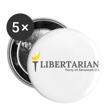 LP Savannah GA Buttons large 2.2'' (5-pack) - Proud Libertarian