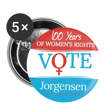 100 Years of Womens Rights Buttons large 2.2'' (5-pack) - Proud Libertarian
