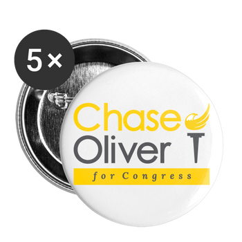 Chase Oliver for Congress Buttons large 2.2'' (5-pack) - Proud Libertarian