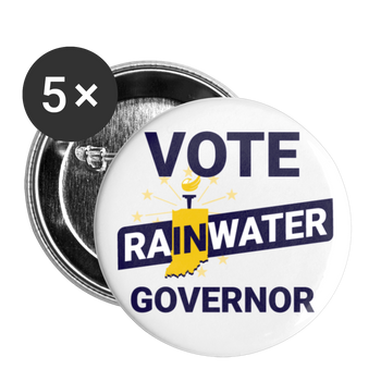 VOTE Rainwater Governor Buttons (White) small 1'' (5-pack) - Proud Libertarian