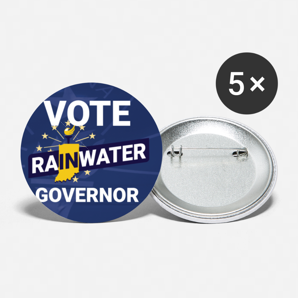 VOTE Rainwater Governor Buttons (Blue) small 1'' (5-pack) - Proud Libertarian