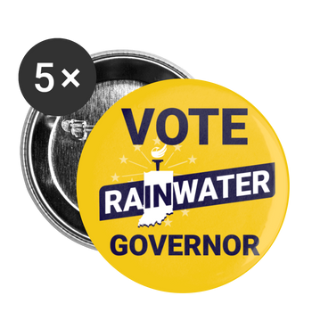 VOTE Rainwater Governor Buttons (Gold) large 2.2'' (5-pack) - Proud Libertarian