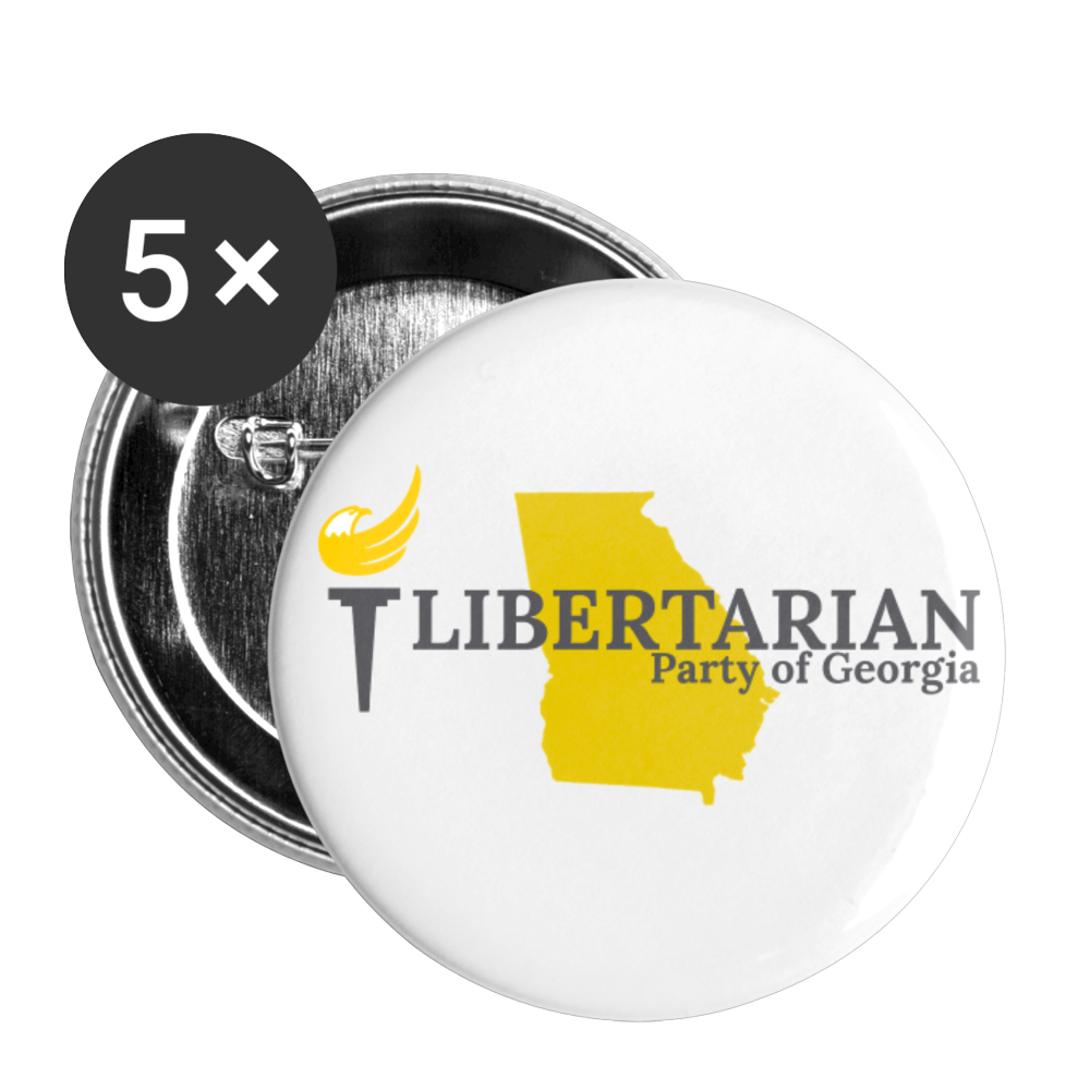 Libertarian Party of Georgia Buttons large 2.2'' (5-pack) - Proud Libertarian
