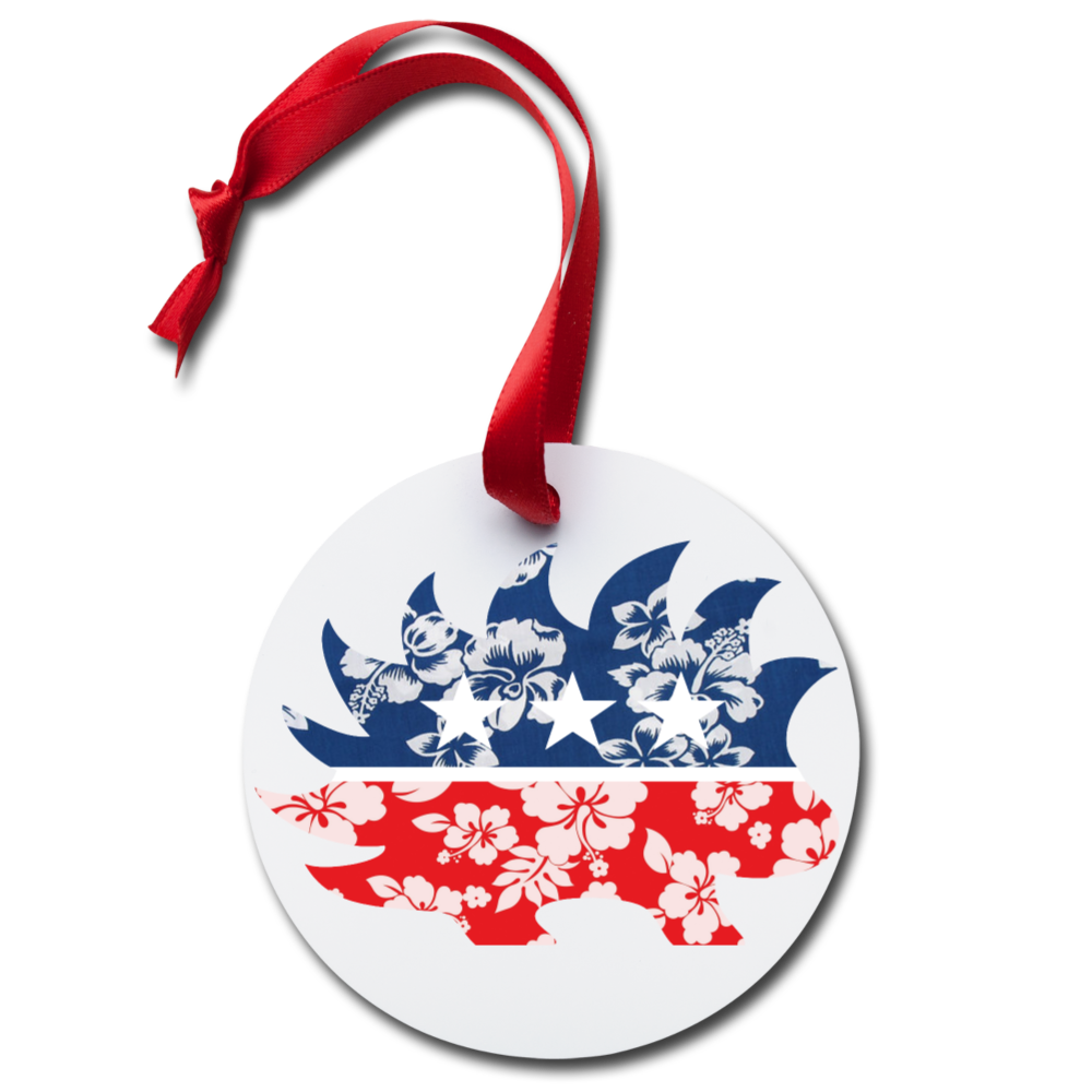 Hawaiian Porcupine Holiday Ornament - Proud Libertarian