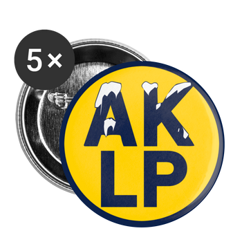 Alaska LP Buttons large 2.2'' (5-pack) - Proud Libertarian