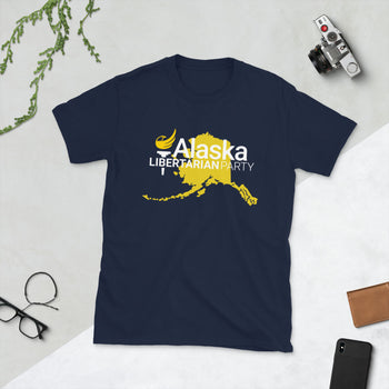 Alaska Libertarian Party Short-Sleeve Unisex T-Shirt - Proud Libertarian