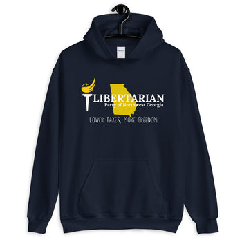 Libertarian Party of Northwest Georgia Unisex Hoodie - Proud Libertarian