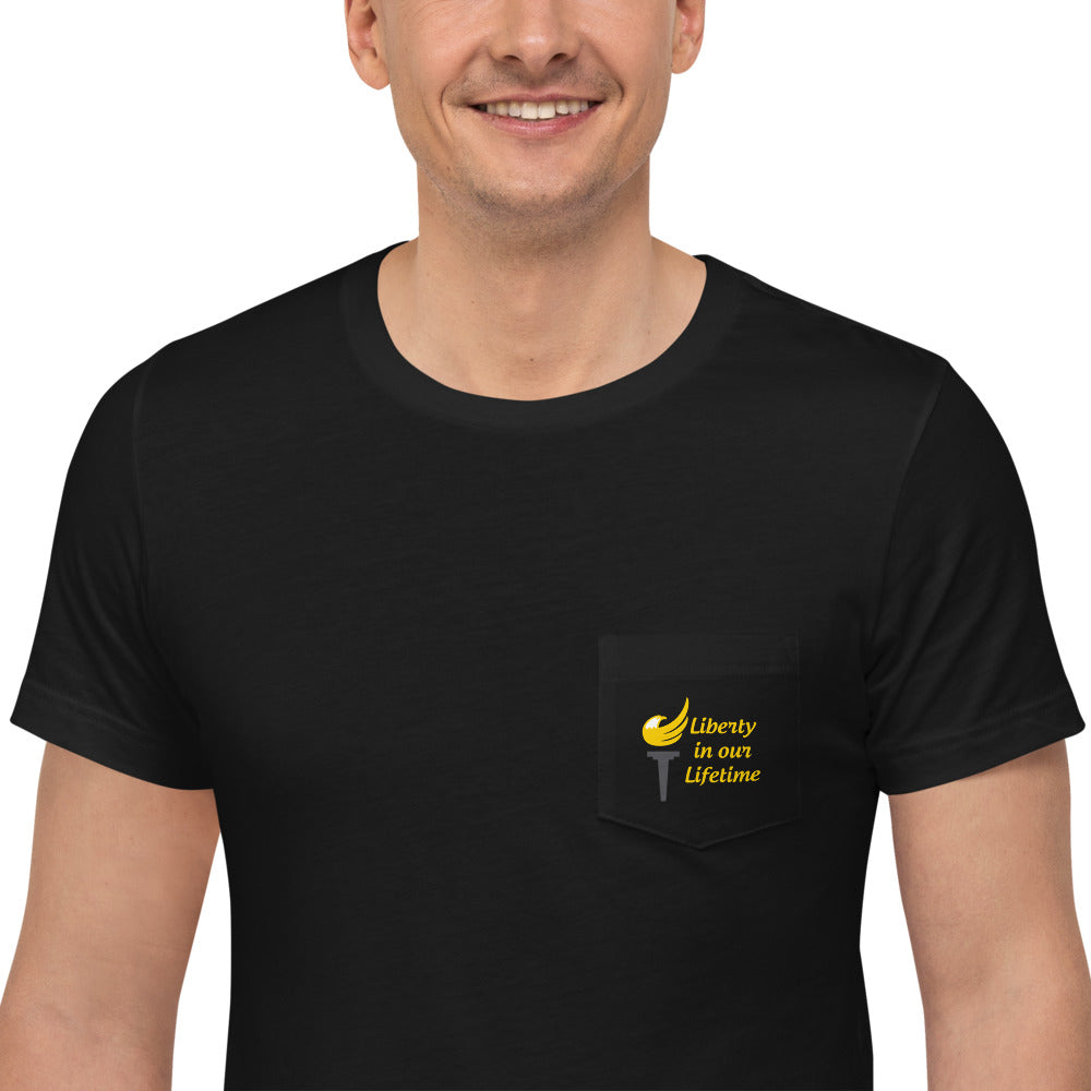 Gold Rush 2021 Alaska Libertarian Party Unisex Pocket T-Shirt - Proud Libertarian