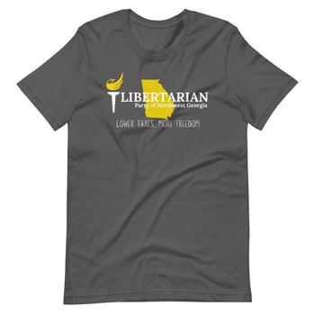 Libertarian Party of North West Georgia Short-Sleeve Unisex T-Shirt - Proud Libertarian