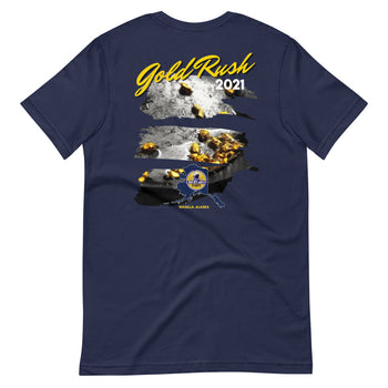 Gold Rush 2021 Alaska Libertarian Party Short-Sleeve Unisex T-Shirt - Proud Libertarian