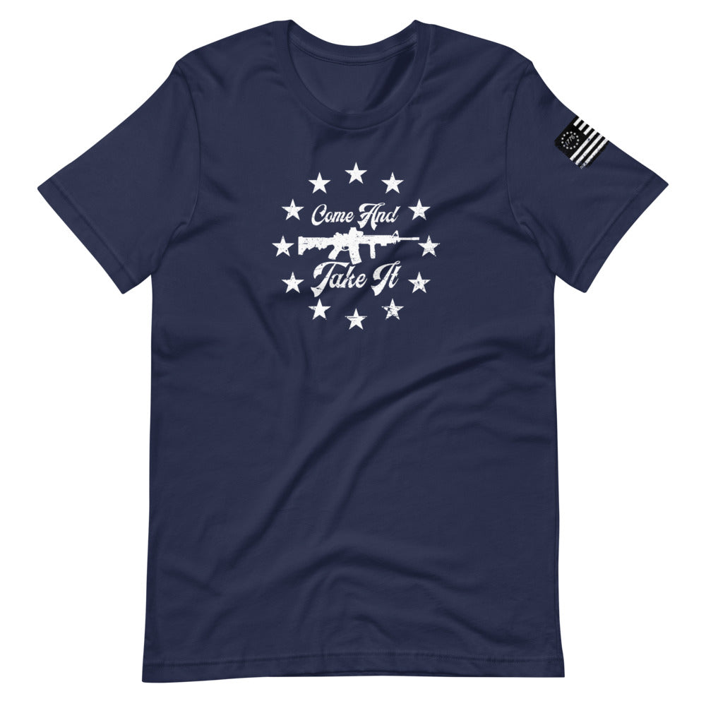 Come and Take it AR-15 Short-Sleeve Unisex T-Shirt - Proud Libertarian