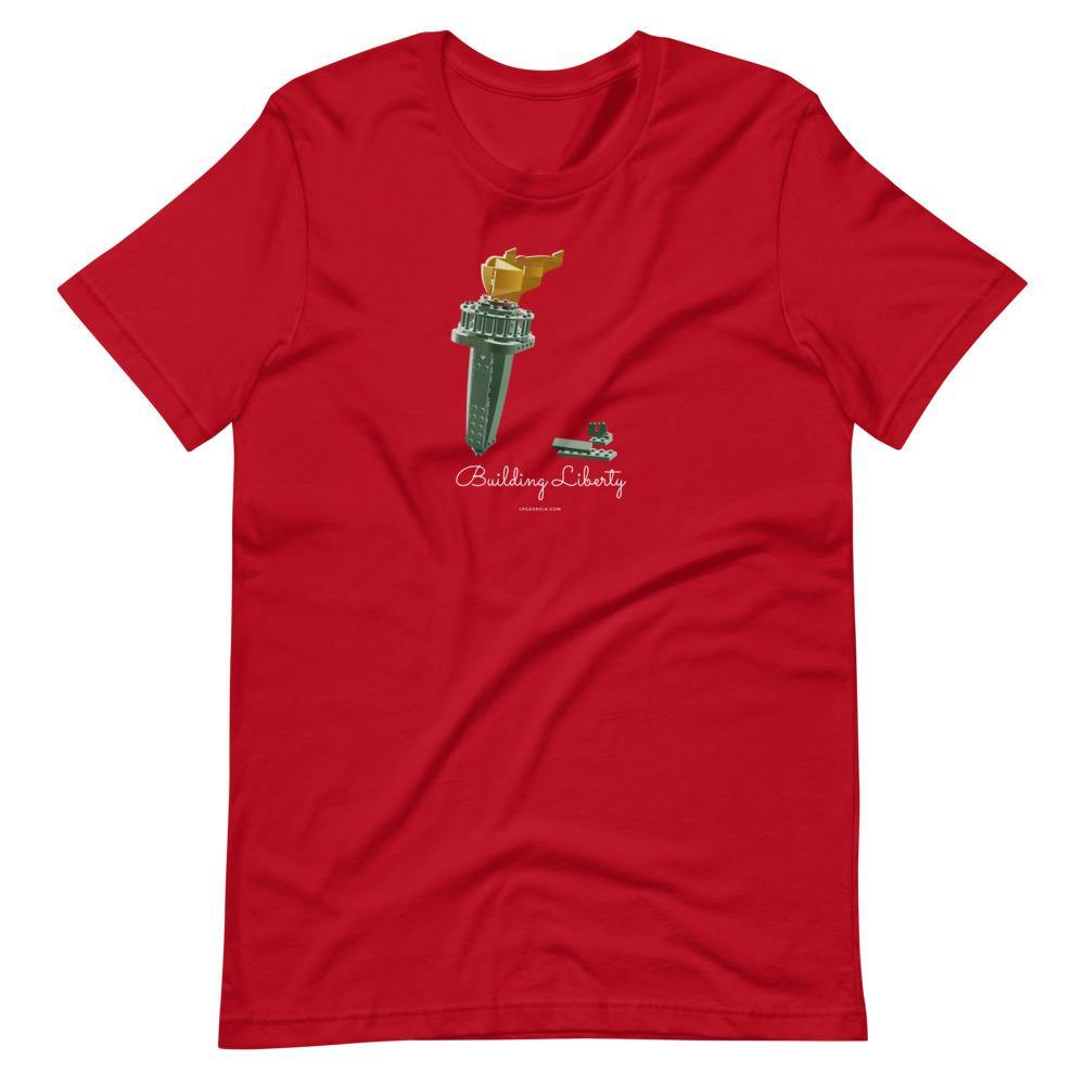 Building Liberty Short-Sleeve Unisex T-Shirt - Proud Libertarian