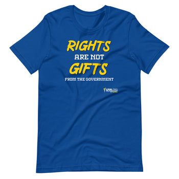 Rights are not Gifts from the Government LP-IN Short-Sleeve Unisex T-Shirt - Proud Libertarian