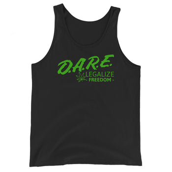 D.A.R.E to Legalize Freedom Unisex Tank Top - Proud Libertarian