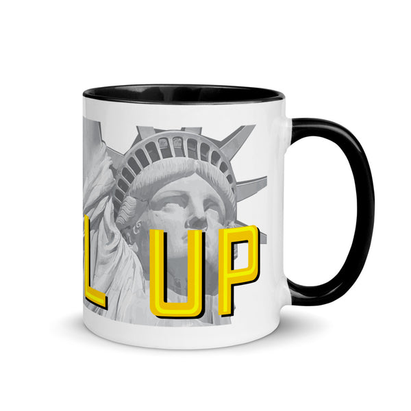Level Up for Liberty LP Indiana Mug with Color Inside - Proud Libertarian