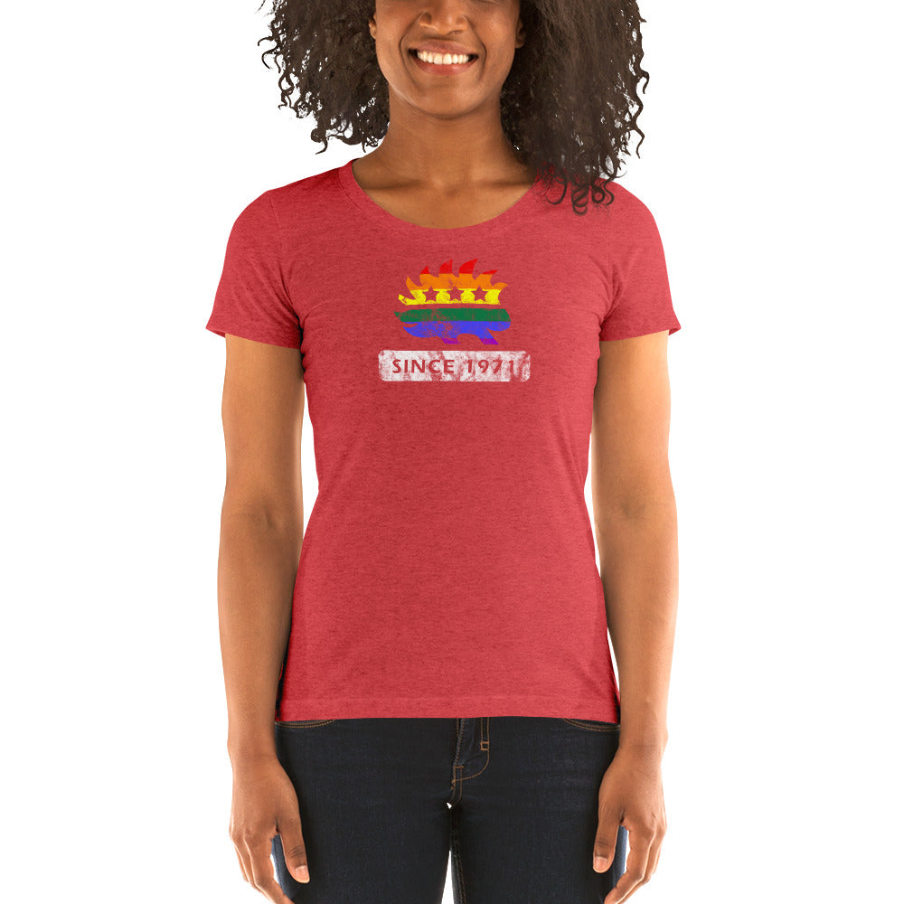 LGBT Pride Porcupine Since 1971 Ladies' short sleeve t-shirt - Proud Libertarian