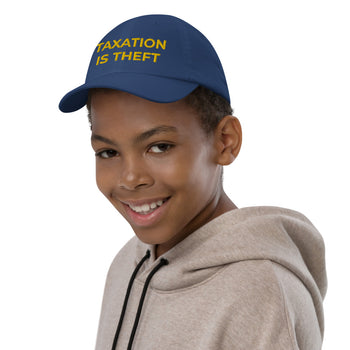 Taxation is Theft Youth baseball cap - Proud Libertarian