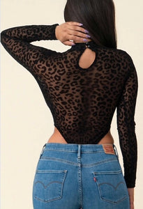 Black Cheetah Bodysuit