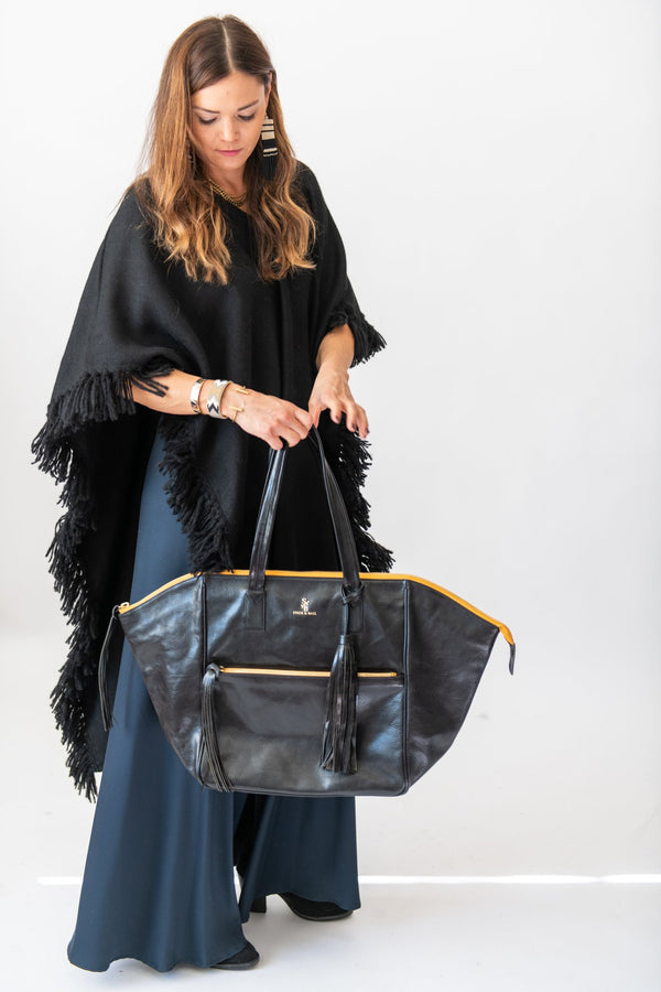 How To Style: Our Signature Long Fringed Poncho